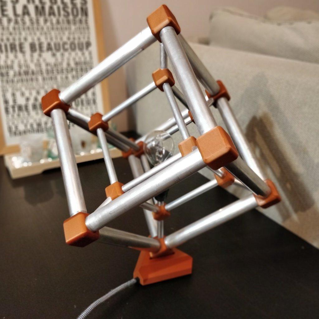 Hypercube Lamp By Pierrecharlier Thingiverse