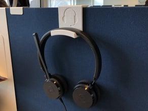 Support casque audio sur separation bureau
