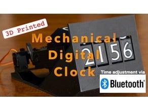 Mechanical digital clock