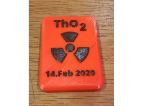 Thorium radiation source