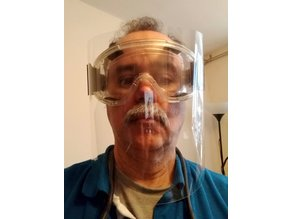 VMO VISOR FOR SAFETY GLASSES - 3D-PRINTED PROTECTIVE - CORONAVIRUS - COVID-19