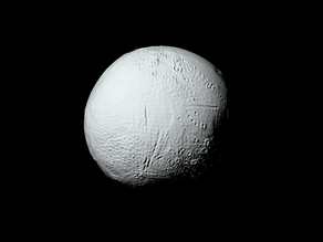 Enceladus with known topography scaled one in ten million