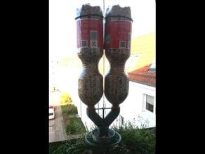 Multi bottle bird feeder parametric