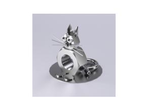 Cat mechanical sculpture