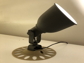 Flat support surface Ikea Hektar Wall/clamp spotlight