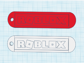 Rounded Roblox Logo Keychain