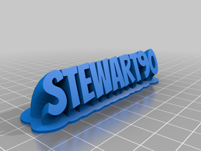 My Customized Sweeping 2-line name plate (text)