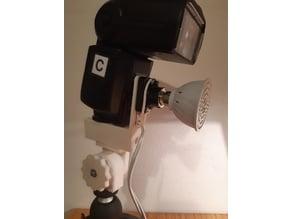 Umbrella and Flash holder with model light