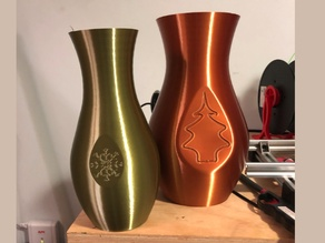 Holiday theme vases