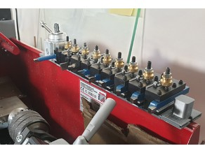 Small lathe improvements: Modular magnetic QCTP tool holder for mini lathe