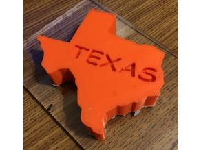3D Printed Texas - Everything is bigger and better in Texas, right?