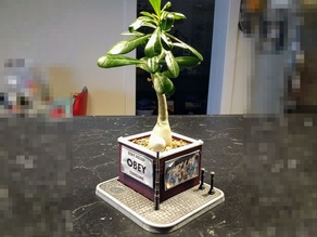 Brickwall Diorama Planter