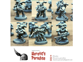 Parts of a Traitor Legions Marines Builder