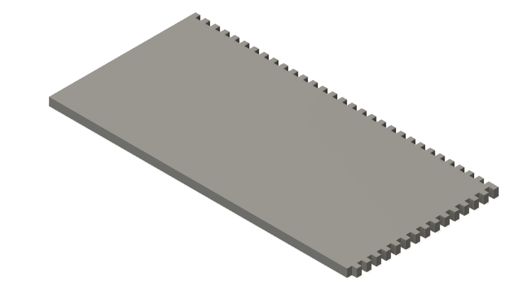 3X3 mm square notch throwel