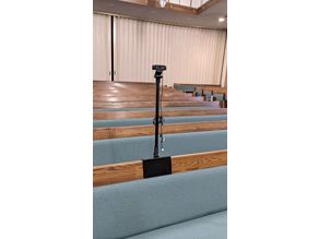 Church Pew camera mount