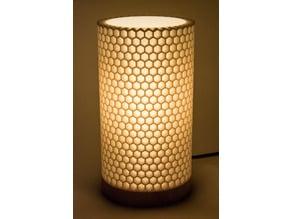 Honeycomb lamp shade
