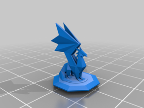 Dragon Statue With Base - Spyro (repaired 3mf+stl)
