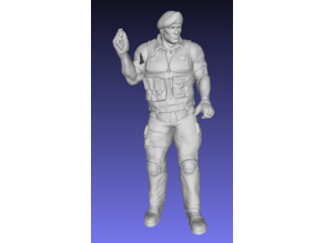 Soldier of fortune (Army man) figure without the gun - Remix
