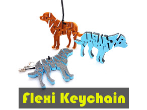 Flexi Articulated Dog Keychain