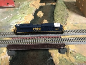 N scale plate girder bridge for Kato track.