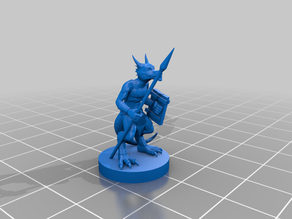 Kobold with spear and shield