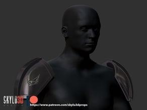 Mando Beskar Shoulder Armor Mudhorn Signet