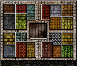 HeroQuest Basic Board Tiles part1/3