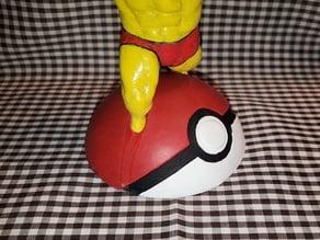 Pokeball Stand for Ultra Swole Pikachu