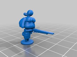Isabelle with a Shotgun