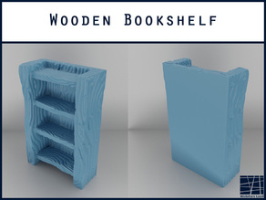 Wooden Bookshelf - Tabletop Gaming - Terrain