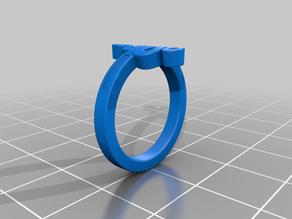 KTFRD06 Filigree Snake Geometric Ring 3D design Jewelry