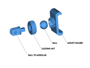 Ball Mount for Modular Mounting System