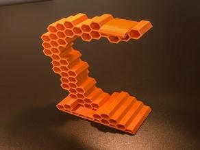 Honeycomb headphone stand