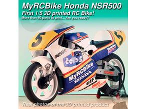 MyRCBike NSR500, First 1/5 3D Printed Hobby Level RC Bike: number 5