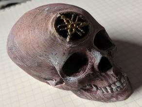 Skull with Yamaha Logo