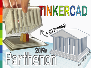 Make a simple Parthenon 2019v with Tinkercad
