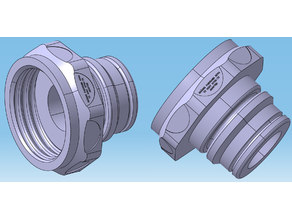 Draeger Panorama Nova® SCBA to GOST 8762-75 (KR40H4) Adapter