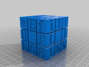 Blindfold Rubik's Cube Letter Scheme