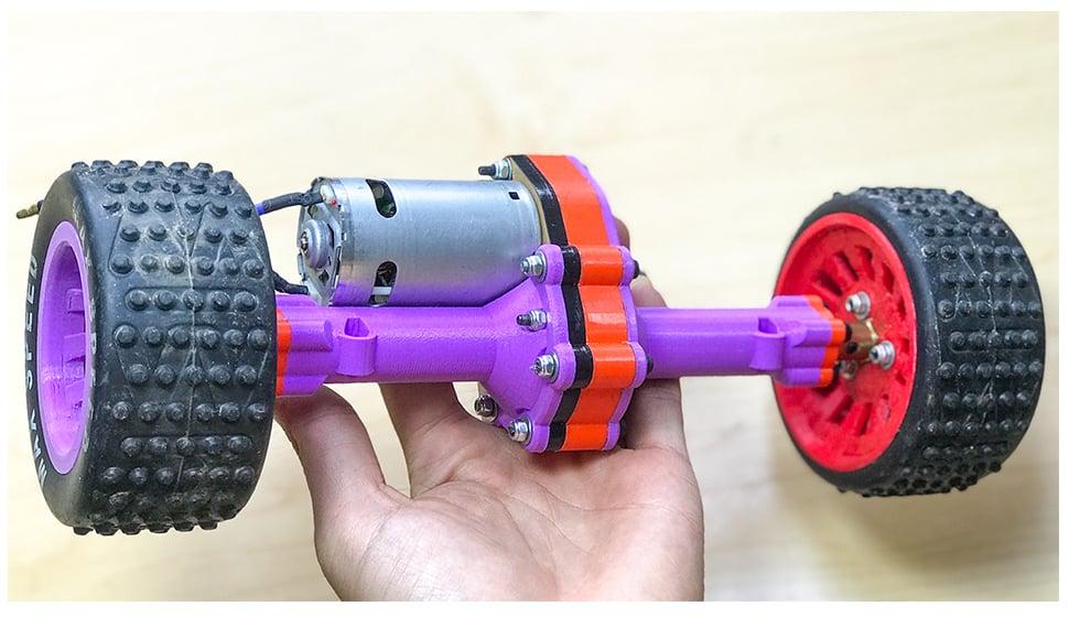 Rear axle metal gearbox Brush