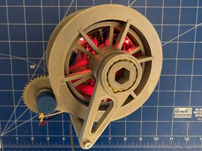 Auto-winding drum for weight-driven clock