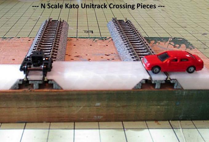 N Scale -- Modern Concrete Crossing for Kato Unitrack