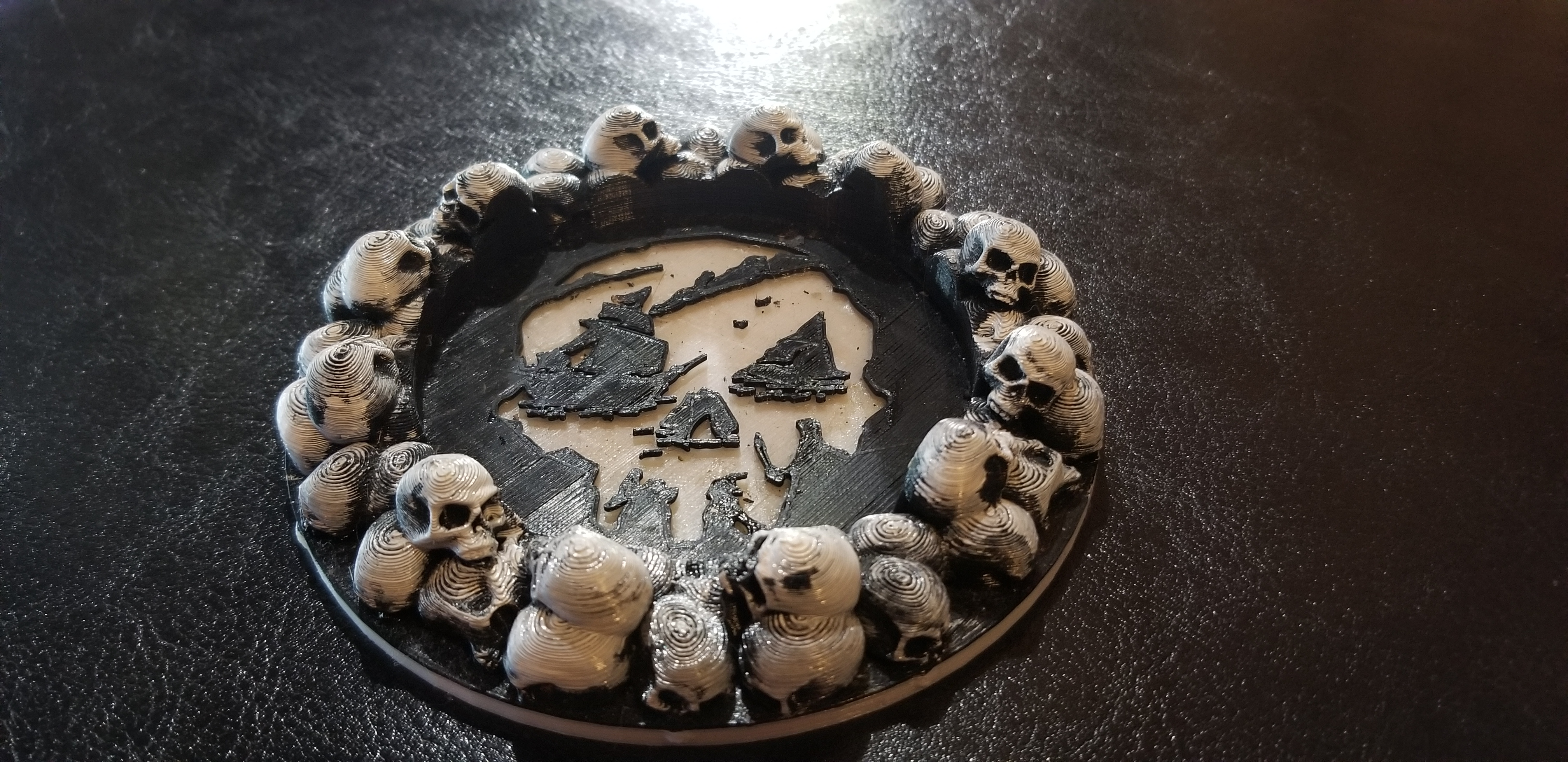 pirate sea of thieves skull halloween drink coaster
