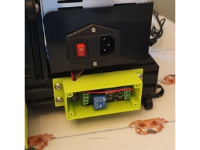 Octoprint power control inrush eliminator and relay contact protector in v-slot box