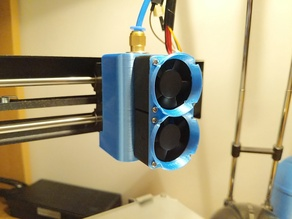 Dual fan shroud compartimented for MP Select mini