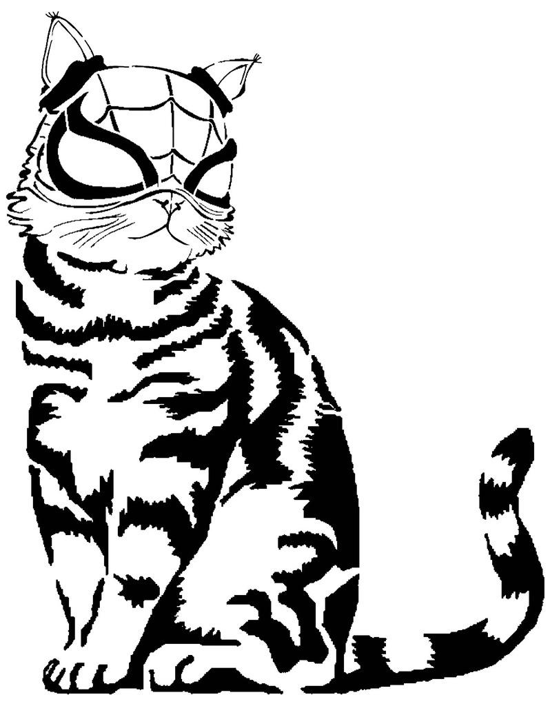 Marvel's Spider-Cat stencil