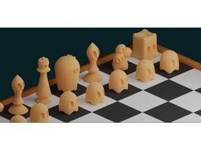 Cute Ghost Chess Set