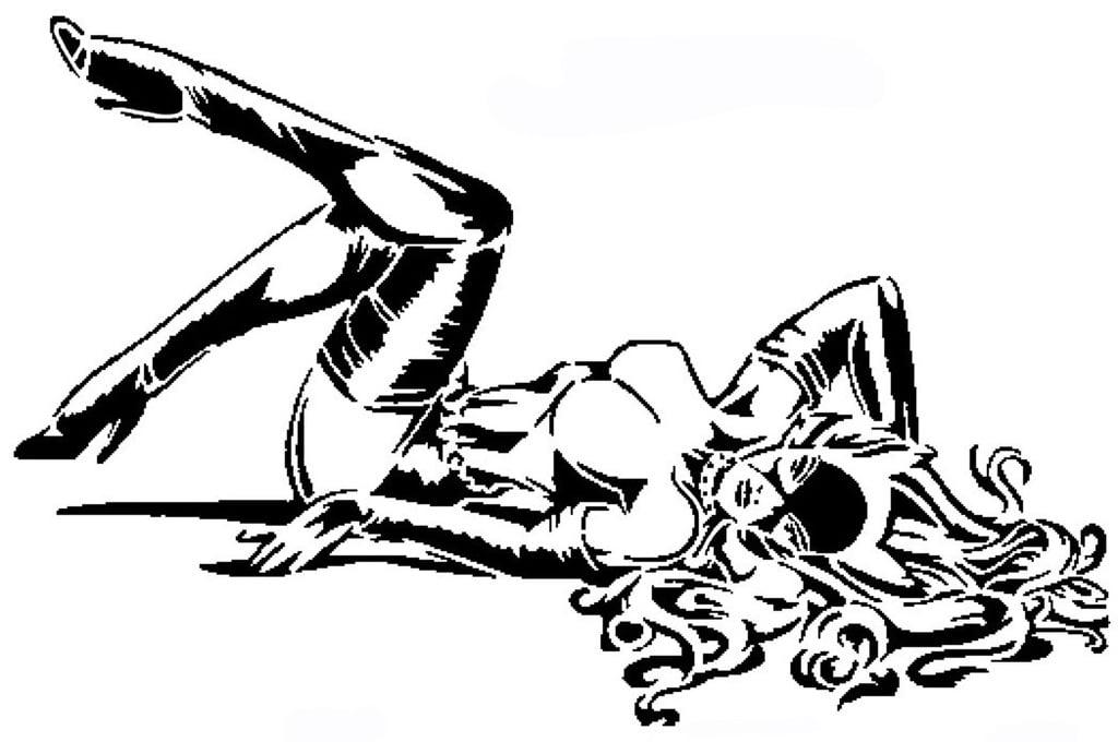 Cat Woman stencil 6