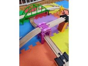 Stackable Wooden Train Bridge / Riser