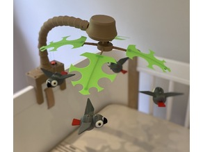 Baby Mobile with African Grey Parrots