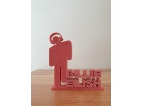 Billie Eilish ornament with headphones